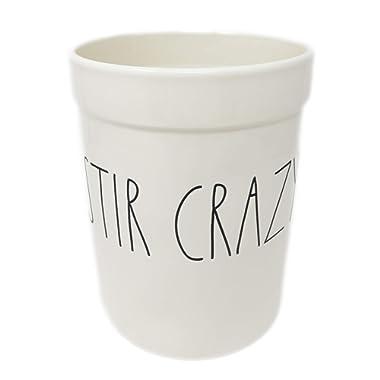Rae Dunn By Magenta Ceramic Utensil Crock Utensil Holder STIR CRAZY