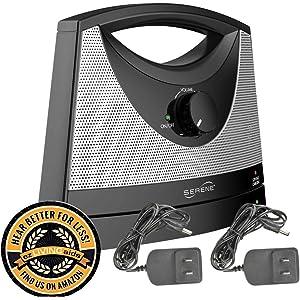 Serene Innovations TV-SB Wireless TV Listening Speaker w/Free Extra Power Adapter &
