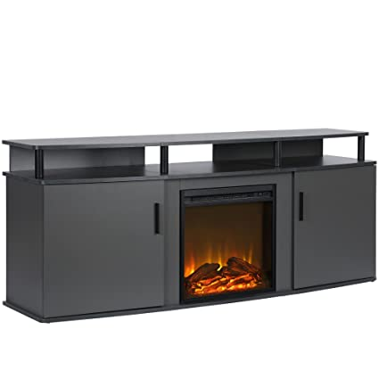 Amazon Com Ameriwood Home 1766496com Carson Electric Fireplace Tv