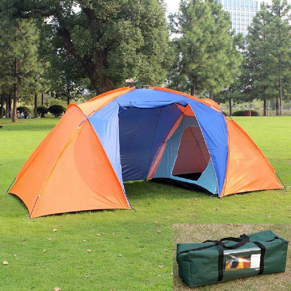 GCC Guo Outdoor Products Outdoor Zwei-Zimmer-Camping Zelte, Doppelzelte 5-8 Personen Camping Zelte, Regen, Wind, Solid und Durable Glasfaser Türme Zelt