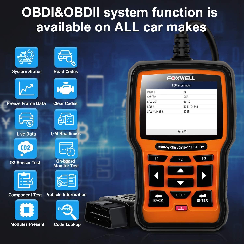 Diagnostic, Test & Measurement Tools Latest Version FOXWELL NT510 ...