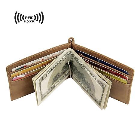 CinDier RFID Bloqueo Slim Diseño De Cuero Bifold Hombres De La Tarjeta De Crédito Carteras Y