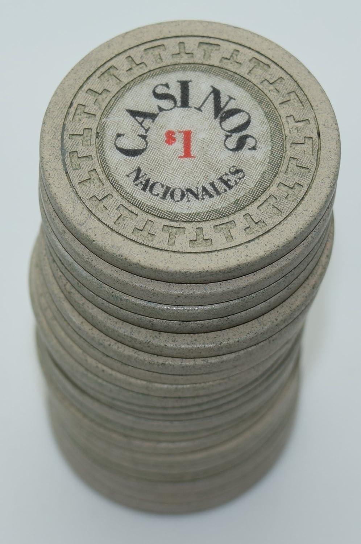 Set of 20 Casinos Nacionales $1 Casino Chips Panama City Panama T/'s Mold White