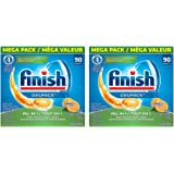 Finish All in 1 Gelpacs Orange, Automatic NkeGc Dishwasher Detergent Tablets, 90 Count (2 Pack)
