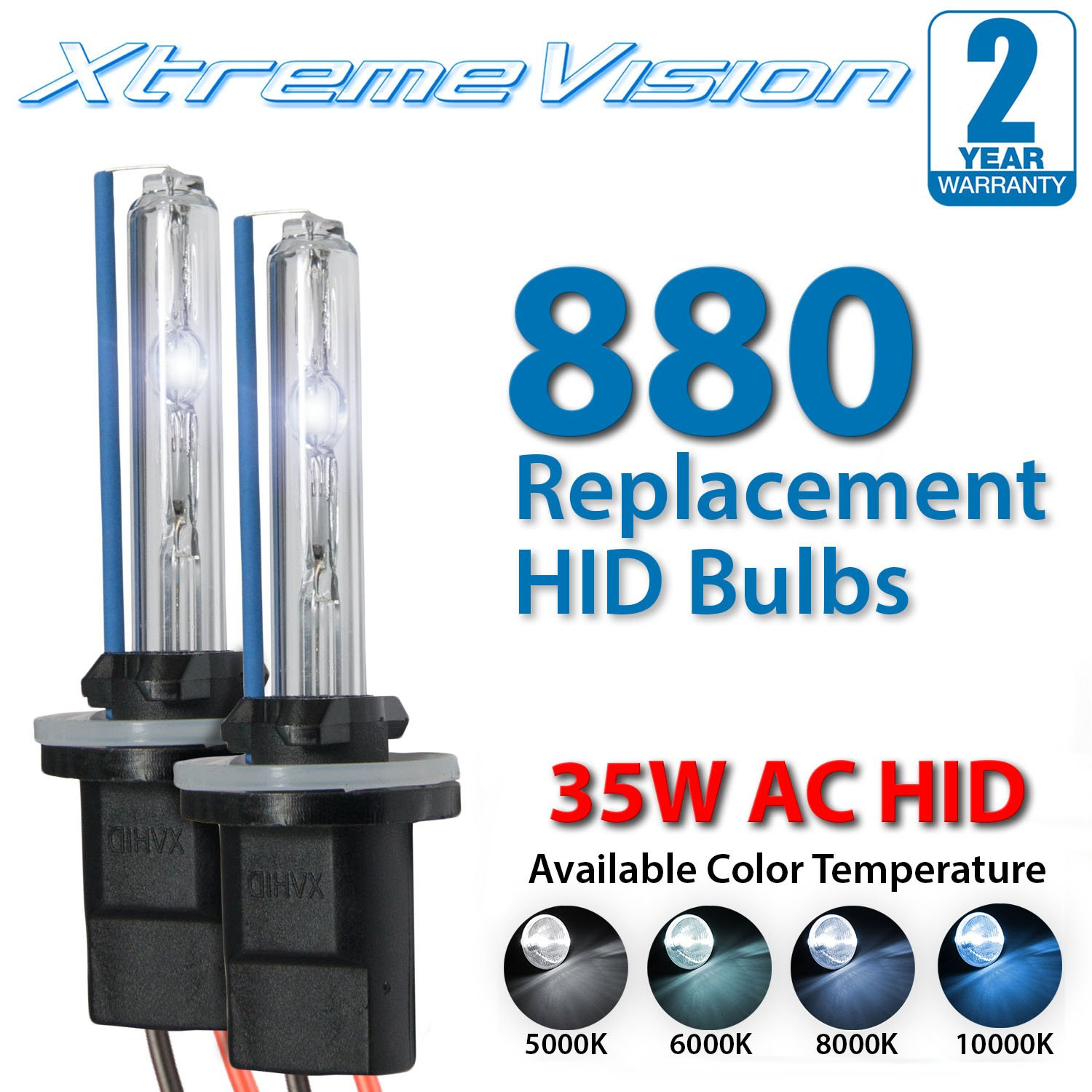 2 Year Warranty H4-3 9003-6000K Bi xenon HI//LO Innovited 35W AC Xenon HID LightsAll Bulb Sizes and Colors with Slim Ballast Diamond White