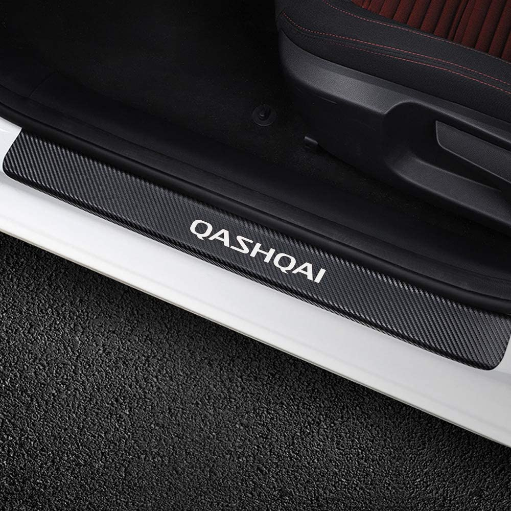 N//A 4 St/ücke Auto Einstiegsleisten Kohlefaser F/ür Nissan Qashqai Exterieur T/ürschwellerschutz Original Zierleisten Abdeckung Pedal Schutz Aufkleber Einfache Montage