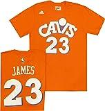 8f44f6565413 Cleveland Cavaliers Lebron James Adidas Orange Hardwood Classic Throwback T  Shirt