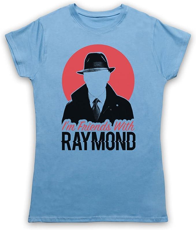 The Guns Of Brixton Blacklist Im Friends with Raymond Camiseta para Mujer, Azul Cielo, Medium: Amazon.es: Ropa y accesorios