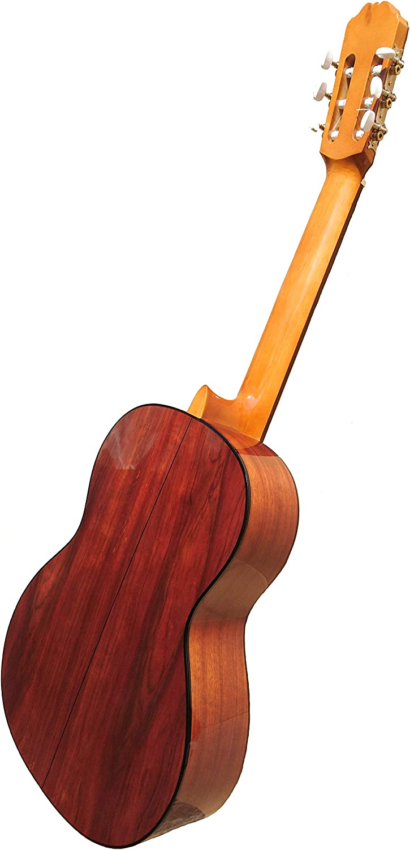 MARCE ANA - Guitarra Clasica española de estudio + Funda (caja armónica de madera de Etimoe, dos perfiles en negro, diapasón de cedro natural. Tamaño adulto): Amazon.es: Instrumentos musicales