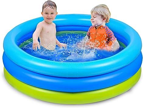 Joyjoz Piscina Hinchable para Infantil Niños 120cm * 30cm Piscina para bebés Fit Summer Garden Juegos Acuáticos Familiares: Amazon.es: Juguetes y juegos