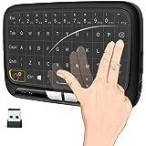 2.4Ghz mini wireless キーボード ワイヤレス式 ミニキーボード マルチタッチ 感圧タッチトラックパッド マウス一体型 USBレシーバー付き PC、PAD、Android TV 、HTPC、IPTV対応 PDF日本語説明書付き