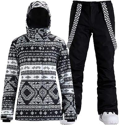 Womens Ski Snowboard Jackets Pants Set Windproof Waterproof Snow Jacket Ski Suits Rain Jacket