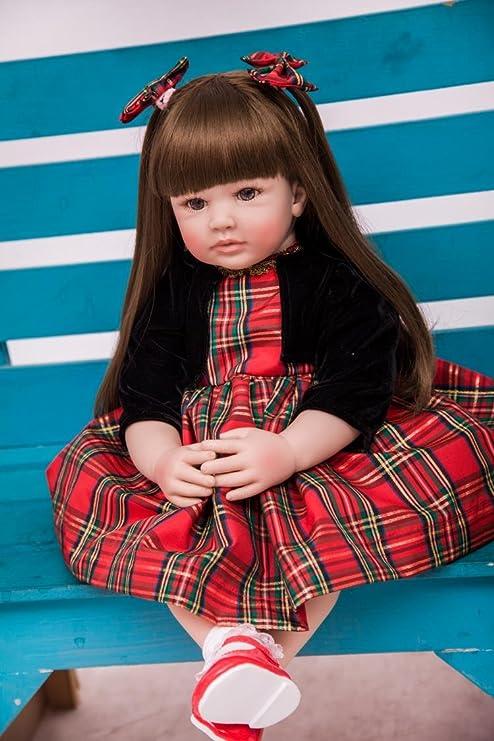 Amazon.es: Pursue Baby 24 Pulgadas Cuerpo Suave Realista Muñeca Princesa Valentina para la Navidad: Juguetes y juegos