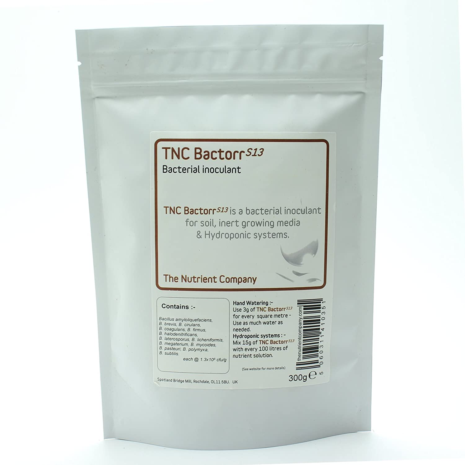 TNC BactorrS13 - Beneficial Bacteria for Compost Tea, Hydroponics & Horticulture - Soil Microbes (75g) The Nutrient Company