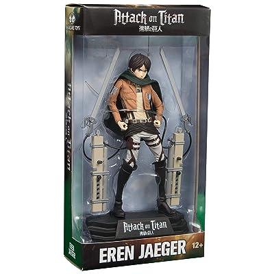 Attack on Titan Eren Jaeger 7-Inch Color Tops Blue Wave #15 Action Figure: Toys & Games