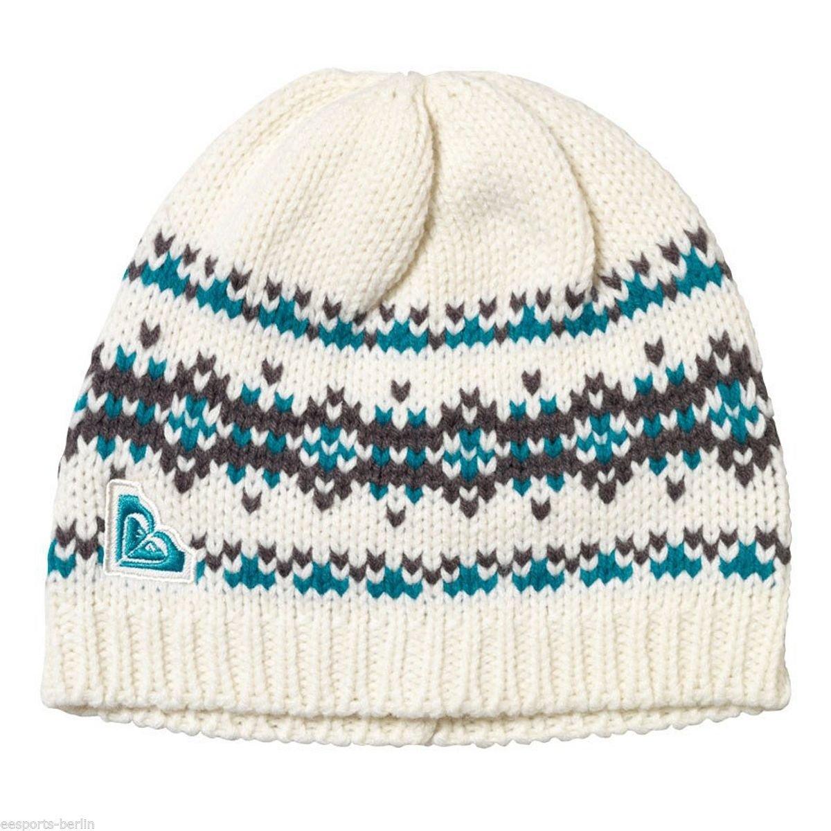 ROXY Kinder Wintermütze Strickmütze Mütze Mädchen Ski Snowboard Beanie Cremeweiß