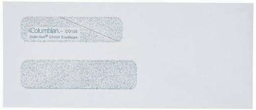 amazon com columbian white gummed 3 7 8 x 8 7 8 inch double window