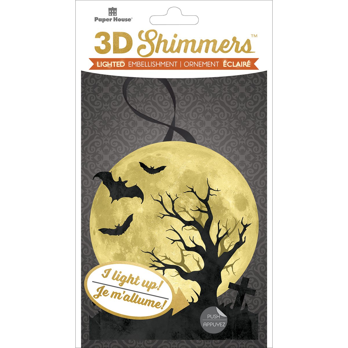 Paper House Adhesivo decorativo 3D con luz de luna