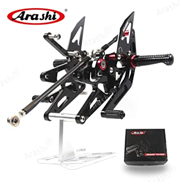 Version 2.0 Adjustable Rearsets for YAMAHA YZF R1 R1M R1S RN32 2015-2019 Motorcycle Accessories Foot Pegs Footrests Rear Set YZF-R1 Black 2016 2017 2018 Arashi