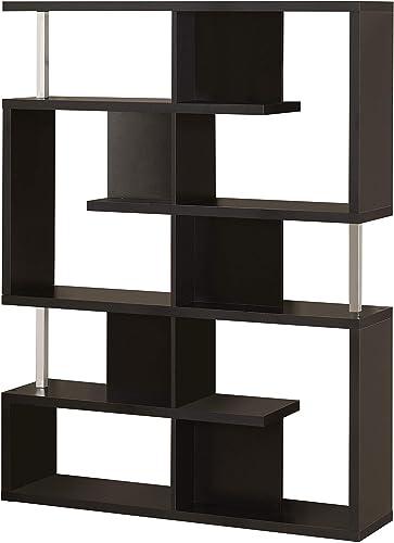 5-Tier Bookcase Black and Chrome