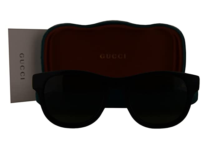 078005ed3936 Image Unavailable. Image not available for. Colour: Gucci GG0003S  Sunglasses Black w/Green Lens 002 GG 0003S