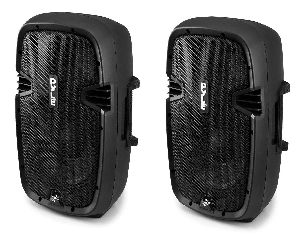2) PYLE PRO PPHP803MU 1200W 8'' 2-Way Powered PA Speaker System w/ MP3/USB/3.5mm by Pyle Pro