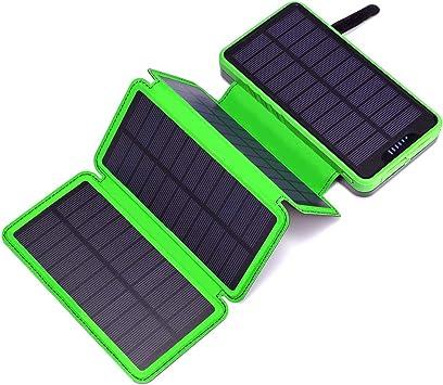 Cargador solar Miady 25000mAh portátil de energía con 4 paneles solares, batería solar impermeable para iPhone, Samsung, iPad, Android, mesas y viajes de camping: Amazon.es: Electrónica