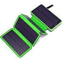 Miady Cargador Solar 25000mAh Banco de energía portátil con 4 Paneles solares, Resistente al Agua, Paquete de batería…