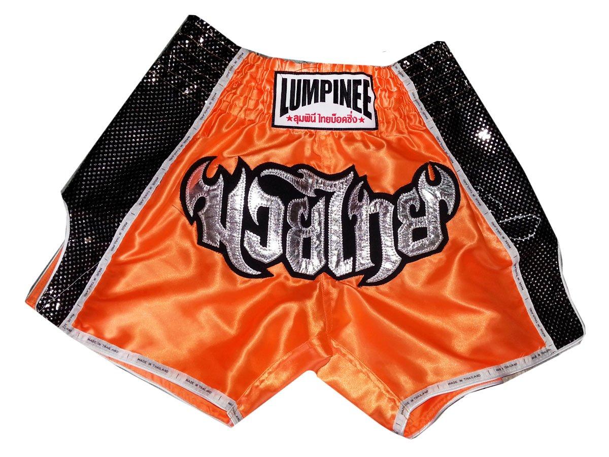 Lumpinee Retro Muay Thai Boxing Shorts LUMRTO-003-Black
