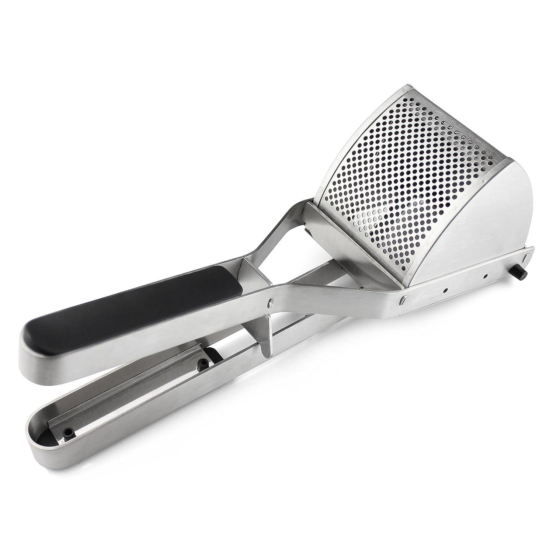 Chrome PT-6272 Grunwerg Commercial Grade Potato Ricer Jumbo Potato Press Cast Iron