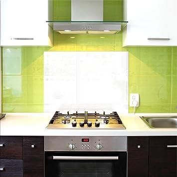 Küchenrückwand Weiß küchenrückwand glas spritzschutz 100 x 60 cm weiß ultraclear