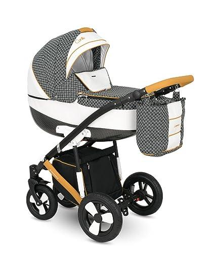 Lux4kids Trío Cochecito 3 in 1 Silla de paseo + capazo + silla para coche + ...