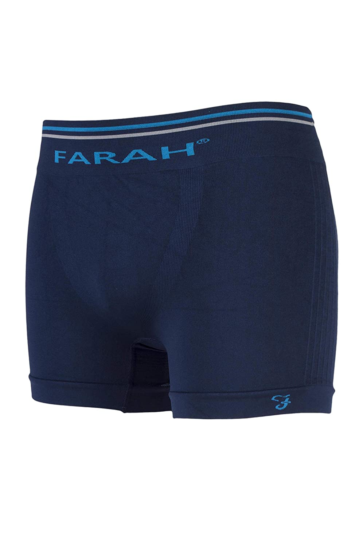 Farah 2 Pairs Mens Breathable Tagless Seamless Microfibre Underwear Boxer Trunks