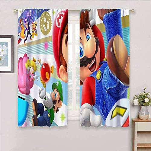 Curtain Panels Super Mario Curtains 84 inch Length Reduce Light Mario