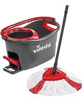 Vileda Easy Wring & Clean Turbo - Juego de fregona, color negro y rojo
