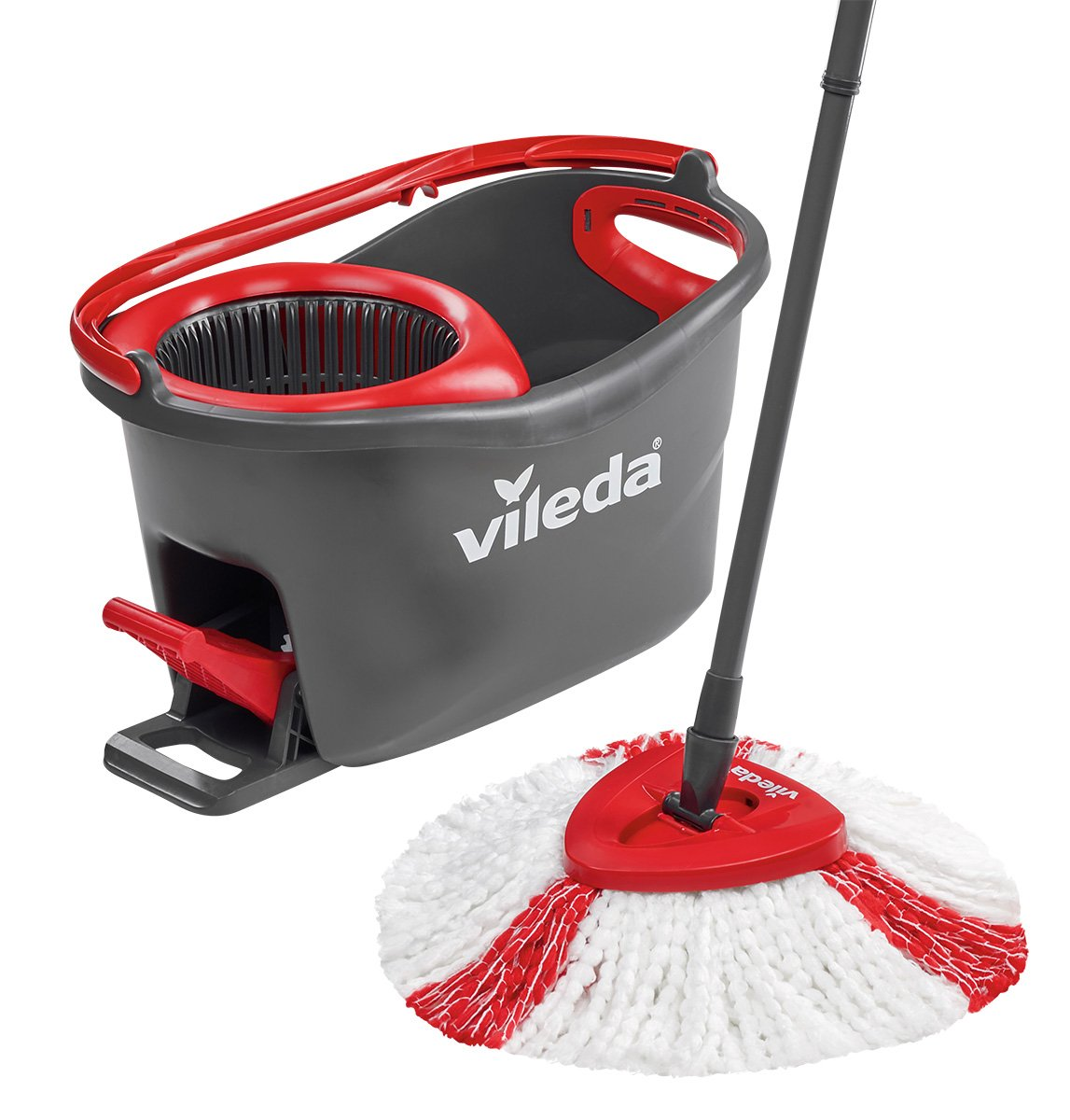 vileda easy wring and clean turbo mop and bucket set microfibre quick pedal dry ebay. Black Bedroom Furniture Sets. Home Design Ideas