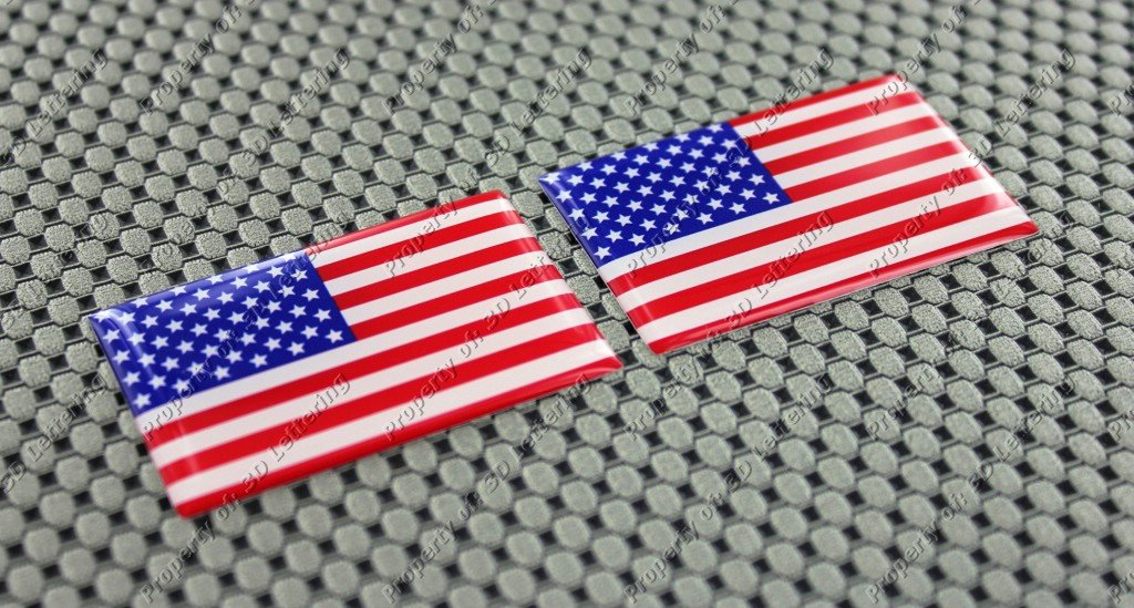 USA Flagge kleinen Aufkleber Paar