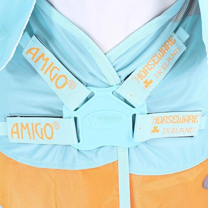 Horseware Amigo Vamoose Evolution Fly Rug Aqua//Orange