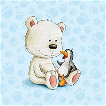 Pro-Art mb002z5 Wandbild Canvas-Art Kinderbild Little friends II, 27 ...