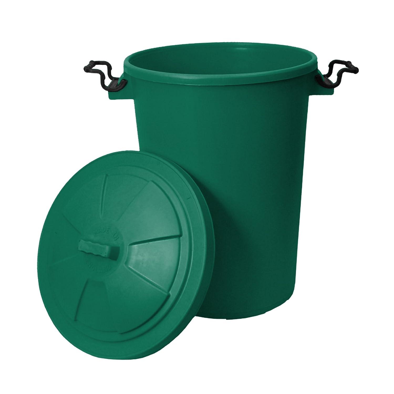 CrazyGadget® 85 Litre 85L Extra Large Colour Plastic Dustbin Garden ...