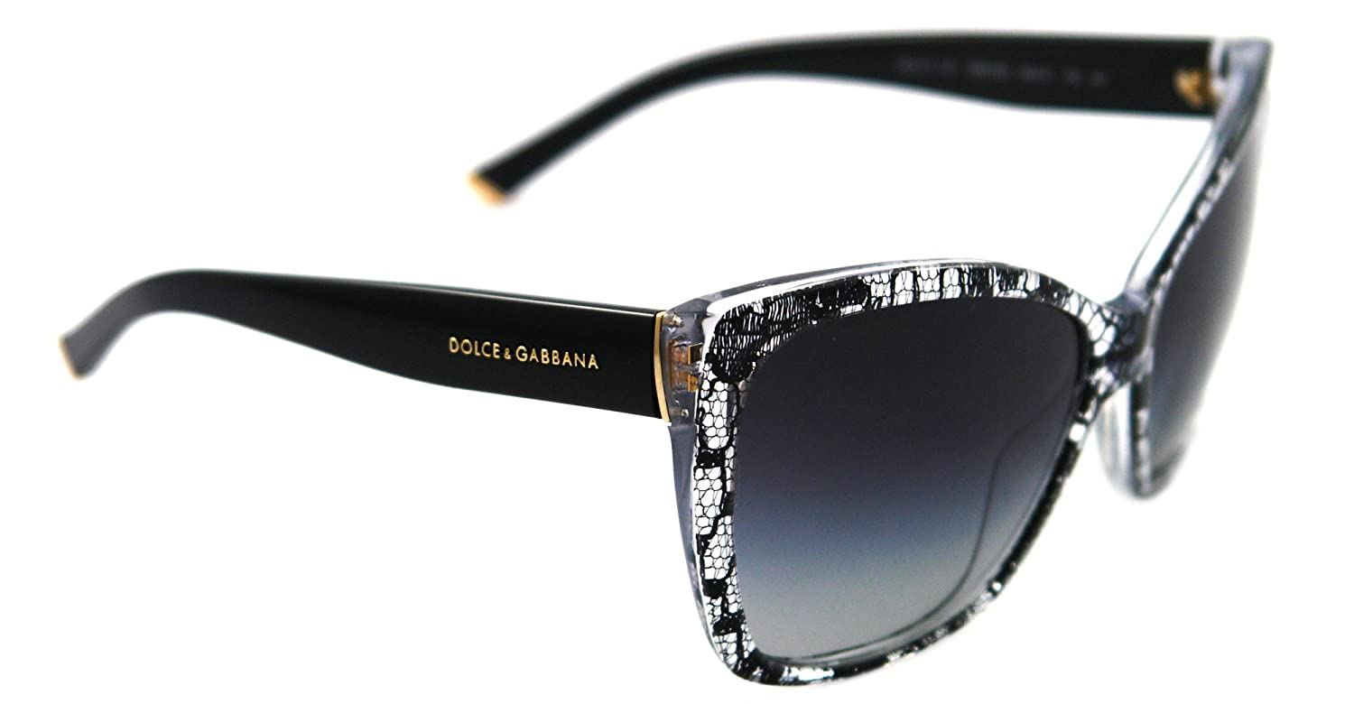 22ac259f91a0 Dolce and Gabbana 4111M 18958G Black and White Lace 4111 Cats Eyes  Sunglasses: Amazon.ca: Sports & Outdoors