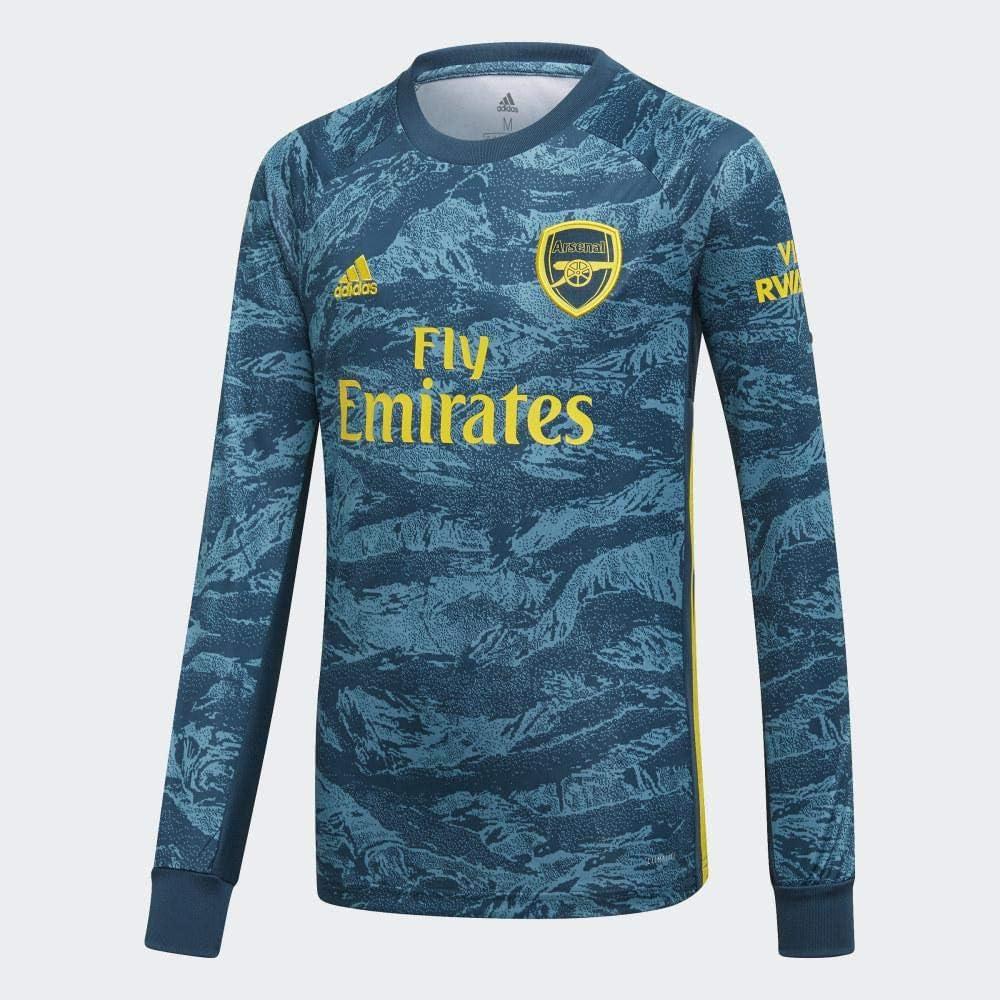 Amazon Com Adidas 2019 2020 Arsenal Home Goalkeeper Football Soccer T Shirt Jersey Kids Clothing