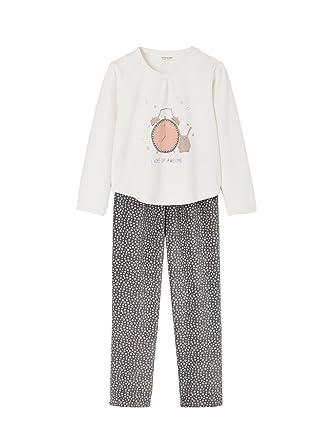 a64d237c822c8 Vertbaudet Pyjama Velours Fille Ivoire imprimé 8 A  Amazon.fr ...