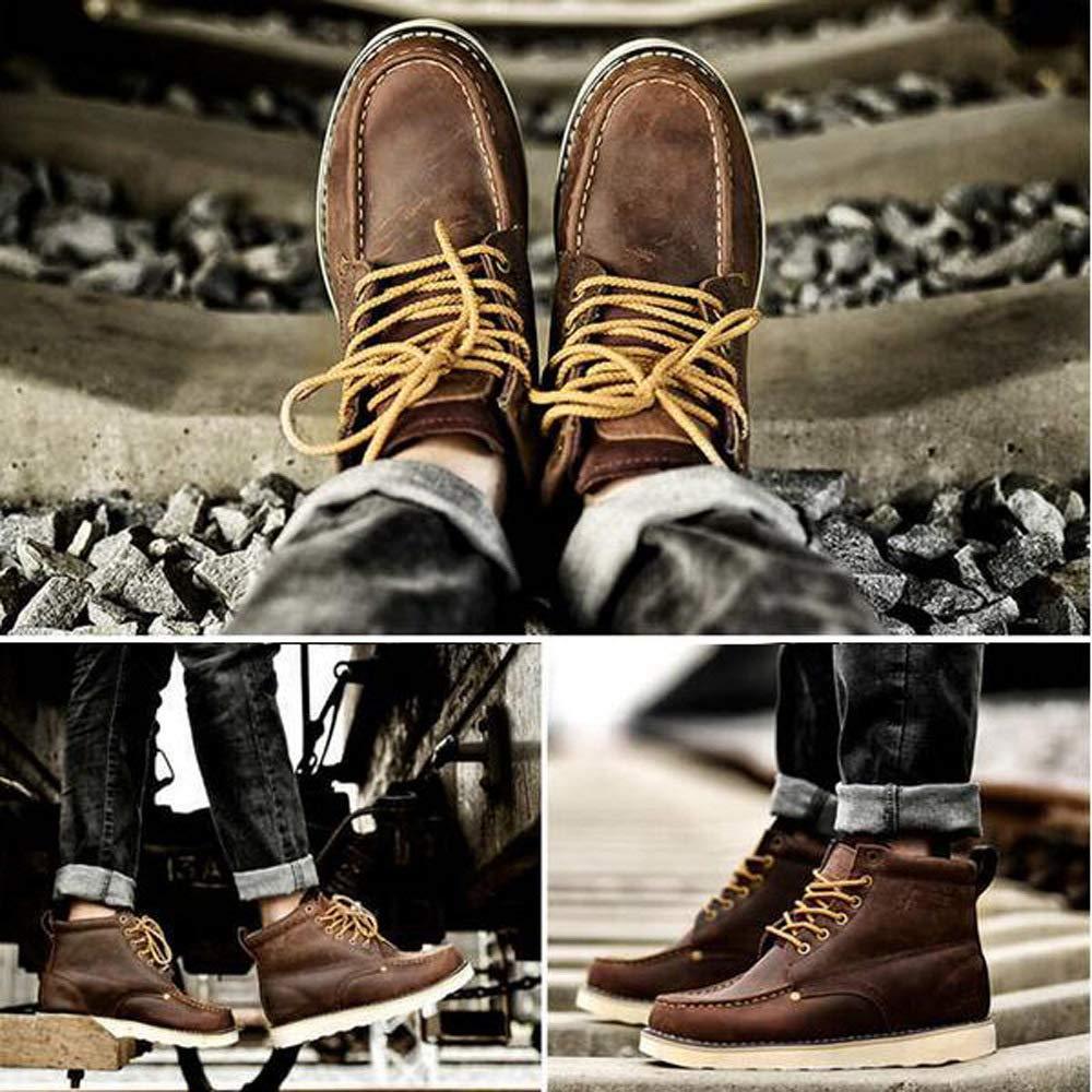 WANG-LONG Schuhe Herren Stiefel Martin Herbst Herbst Herbst Und Winter Retro Casual Werkzeug Military Lederstiefel Outdoor Rutschfeste Mode,braun-40 c7789e
