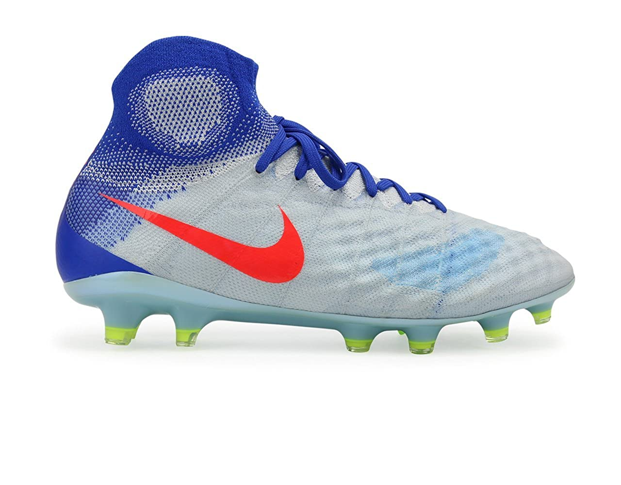 hot sale online e5cad c4440 Amazon.com | Nike Women's Magista Obra II FG White/Bright Crimson/Racer  Blue Soccer Shoes - 10A | Soccer