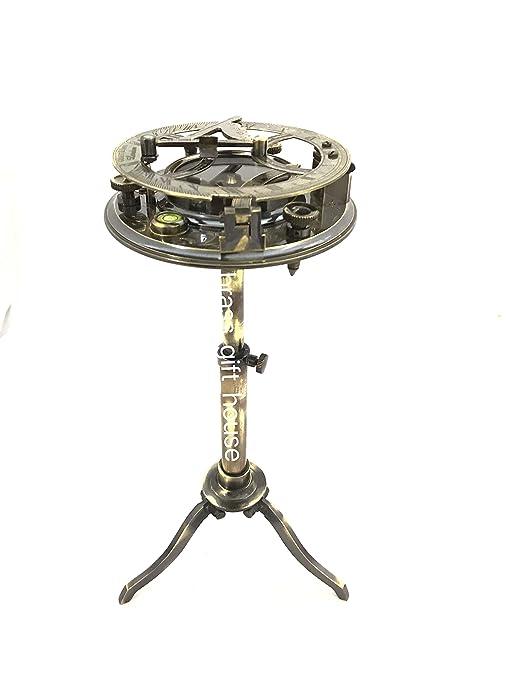 Casanova - Brújula con trípode para Reloj de Sol, diseño náutico