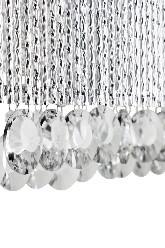 Bromi Design B84685R Crystalline Round 5 Light Wall Sconce, Chrome by Bromi Design