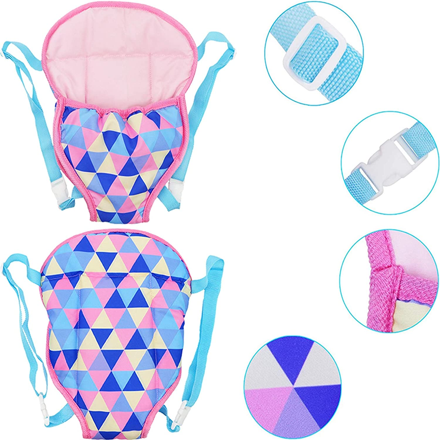 yamaso Doll Carrier Backpack Doll Accessories Front and Back Sling with Straps for 14 Inch to 18 Inch Dolls Doll not Included