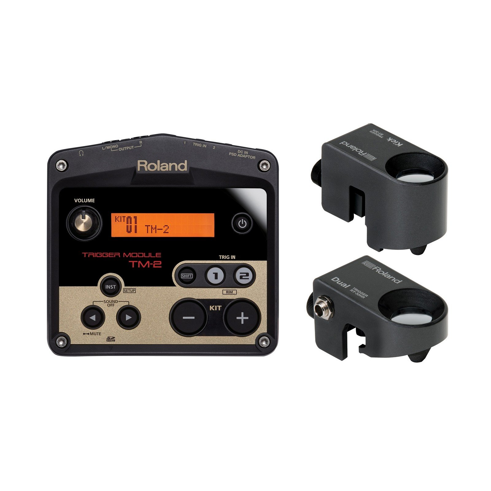 Roland PER-PK-HYB1 | Hybrid Percussion Pack with RT-30K RT-30HR TM-2