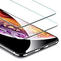 ESR Verre Trempé iPhone XS/X [Lot de 2] [Gabarit de Pose Inclu] [Garantie à Vie], iPhone 10 Film Protection Écran, Vitre Transparente Ultra Claire [2.5D Bord Incurvé] [Dureté 9H Résistant aux Rayures] pour Apple iPhone X/Xs 2018 5,8 Pouces